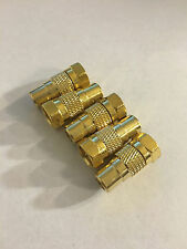 5x Atari 2600, 7800 TV RF adapter GOLD PLATED - Coaxial Plug in - NES - Coleco