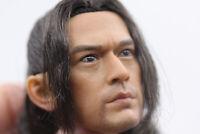 "1/6 Male Onimusha Akechi Takeshi Kaneshiro Head Sculpt w Beard Fit 12"" Figure"