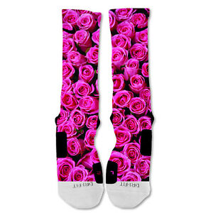 Nike Elite socks custom Pink Rose Valentine's Day