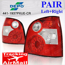 VOLKSWAGEN VW POLO 9N 02-05 LED Tail lights PAIR rear brake lamps red clear DEPO