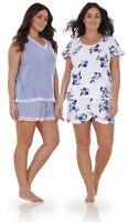 Ladies Plus Size Floral Print Lace Curve PJ T Shirt Shorts Vest Pyjamas