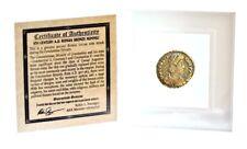 Roman Bronze Coin Honoring 1 of 4 Emperors Of The Constantine Dynasty,Mini Album