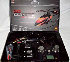 Hélicoptère Orange WLToys V911 4CH Gyro RC Heli Copter 2.4 GHZ Upgrade Red RTF