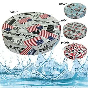 Box Round Shape Cushion Cover *Water Proof Faux Leather Outdoor Pillow Case *Pr