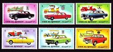 Umm al Qiwain 1972 ** Mi.637/42 A Autos Automobiles Cars Mercedes Fiat Nissan