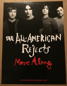 ALL AMERICAN REJECTS Rare 2005 PROMO POSTER for Move CD 18x24 NEVER DISPLAYED