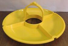 Rare VINTAGE DANSK Yellow Plastic Melamine Divided Veggie Tray Serving Dish MCM