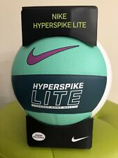 VOLLEYBALL-NIKE 5-HYPERSPIKE LITE-WHITE/NAVY BLUE/LIGHT GREEN IN COLOR-NEW-INBOX