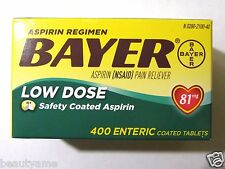 Bayer Low Dose Aspirin 81mg, 400 Enteric Coated Tablets