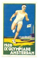 NEDERLAND-1928 OLYMPIADE OLYMPICS  POSTER CARD  **  PRACHT VF  @3