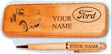 Ford Model A Blindback Sedan Maple wood Pen Case Engraved