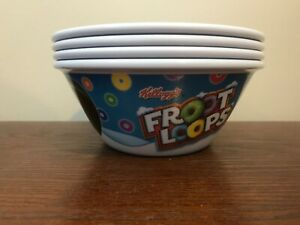 LOT OF 4 2009 Kelloggs Froot Loops & Disney Toy Story Oversized Cereal Bowls EUC