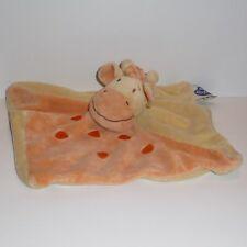 Doudou Girafe Mots d'enfants - Jaune Orange