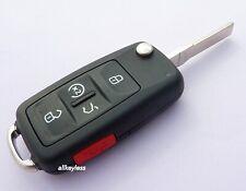 OEM VW VOLKSWAGEN flip keyless entry remote fob transmitter +NEW KEY BLADE