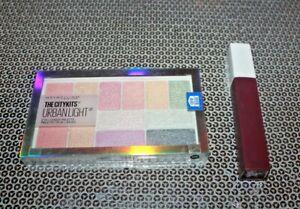LOT/2 Maybelline The City Kits Urban Light Eye+Cheek Palette #150 +LIP COLOR #45