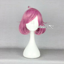 Noragami Kofuku Pink Mixed Purple Short 30CM Bob Anime Cosplay Wig + Wig Cap