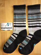SmartWool Jovian Stripe Crew Socks –Black, Light, Casual Dress 50%OFF –Women MED