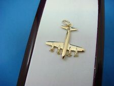 "14K YELLOW GOLD ""AIRPLANE"" CHARM-PENDANT, 2.4 GRAMS, 1 INCH LONG"