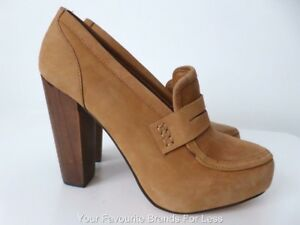SPORTSGIRL Women's Shoes  NEW rrp $139.95 Size 8 Tan High Heel Leather Pumps