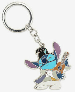 Disney Loungefly Lilo And Stitch Elvis Playing Ukulele Metal Enamel Keychain