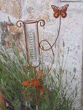 Regenmesser Metall Gartendeko Beetstecker Metall Edelrost Optik Glas 10133 Schme
