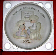 "Precious Moments Collector Plate ""Bring The Little Ones To Jesus"" 1994 Nib"