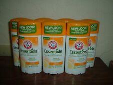 7 New Arm & Hammer Essentials Natural Deodorant Citrus Aluminum & Paraben Free