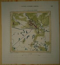 1883 Perron map LUCKNOW, UTTAR PRADESH, INDIA (#78)