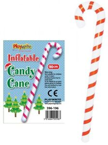 Inflatable Candy Cane - Christmas Decoration Prop Blow Up Party Santa Stocking