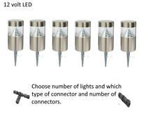 Stainless Steel LED outdoor garden 15cm bollard light with spike 12 v volt