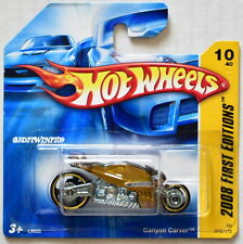 HOT WHEELS 2008 FIRST EDITIONS CANYON CARVER GOLD SHORT CARD W+