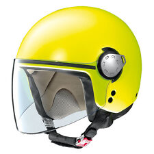 CASCO DEMI-JET GREX G3.1 MALIBU - 9 FLAT LED YELLOW TALLA M