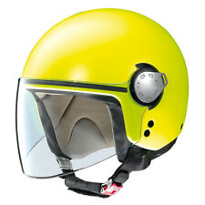 CASCO DEMI-JET GREX G3.1 MALIBU - 9 FLAT LED YELLOW TAGLIA L