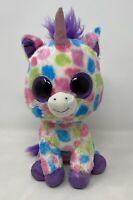 Ty Beanie Boo Wishful The Unicorn Plush Soft Toys Plushies Colourful Big Eyes