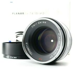 MINT in BOX Carl Zeiss Planar T* 50mm F/1.4 ZF Lens +Hood For Nikon F from JAPAN