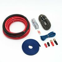 CCA 4 gauge 25mm2 car amplifier wiring kit red oversized cables 2500w 4 awg