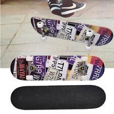 Skateboard Deck Funboard Holzboard komplett 80x20cm Ahornholz Schwarz ABEC-7 new