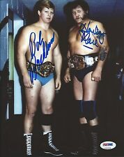 Harley Race & Bob Backlund Signed WWE 8x10 Photo PSA/DNA COA Picture Autograph