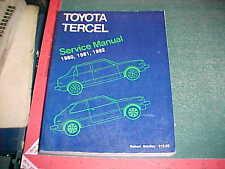 1980 1981 1982 TOYOTA COROLLA TERCEL COMPLETE ROBERT BENTLEY SERVICE MANUAL  vg