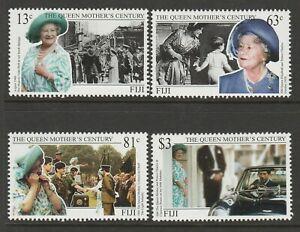 Fiji 1999 Queen Mother's Century set SG 1059-1062 Mnh.