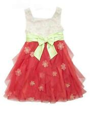 New Girls Rare Editions sz 8 Ivory Coral 3D FLOWER Dress Special Occasion Easter