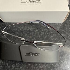Silhouette Smile 4339 6062 Burgundy Blue 52/19 145mm Eyeglasses Optical Frames