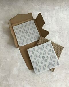 2x (Pair) NESPRESSO COFFEE COASTERS, Portuguese Ceramic, Buenos Aires -NEW BOXED