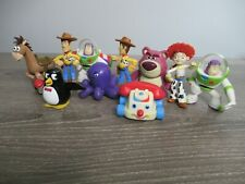 Lot Of 10 Disney Pvc Figures Toy Story Woody Buzz Lotso wheezy Stretch Octopus