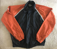 Harley-Davidson Windbreaker Light Jacket Men's XXL Nylon Reflective Orange Black