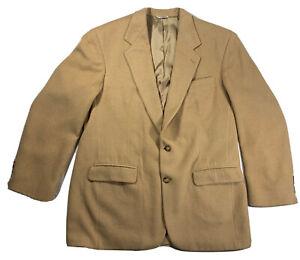 Saks Fifth Avenue Jacket Sz XL Tan 100% Camel Hair Made USA