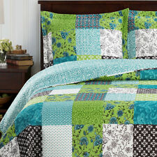 King Size Rebekah Oversized Coverlet 3 PC Set Luxury Microfiber Printed Quilt