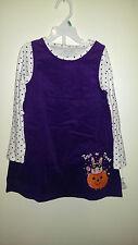 Holiday Editions Girl Purple Corduroy Jumper Dress Sz: 5T Purple Trick or Treat