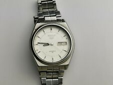 Rare Seiko 5 Men's 17 Jewels Automatic Day / Date Watch 7009-876A, Working
