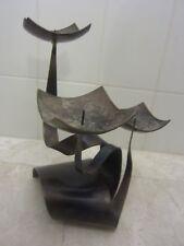 Ferart Canadian Mid Century Modern Candle Holder Metal Art Sculpture Quebec